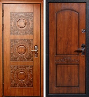Входная дверь МДФ шпон / МДФ шпон СП204